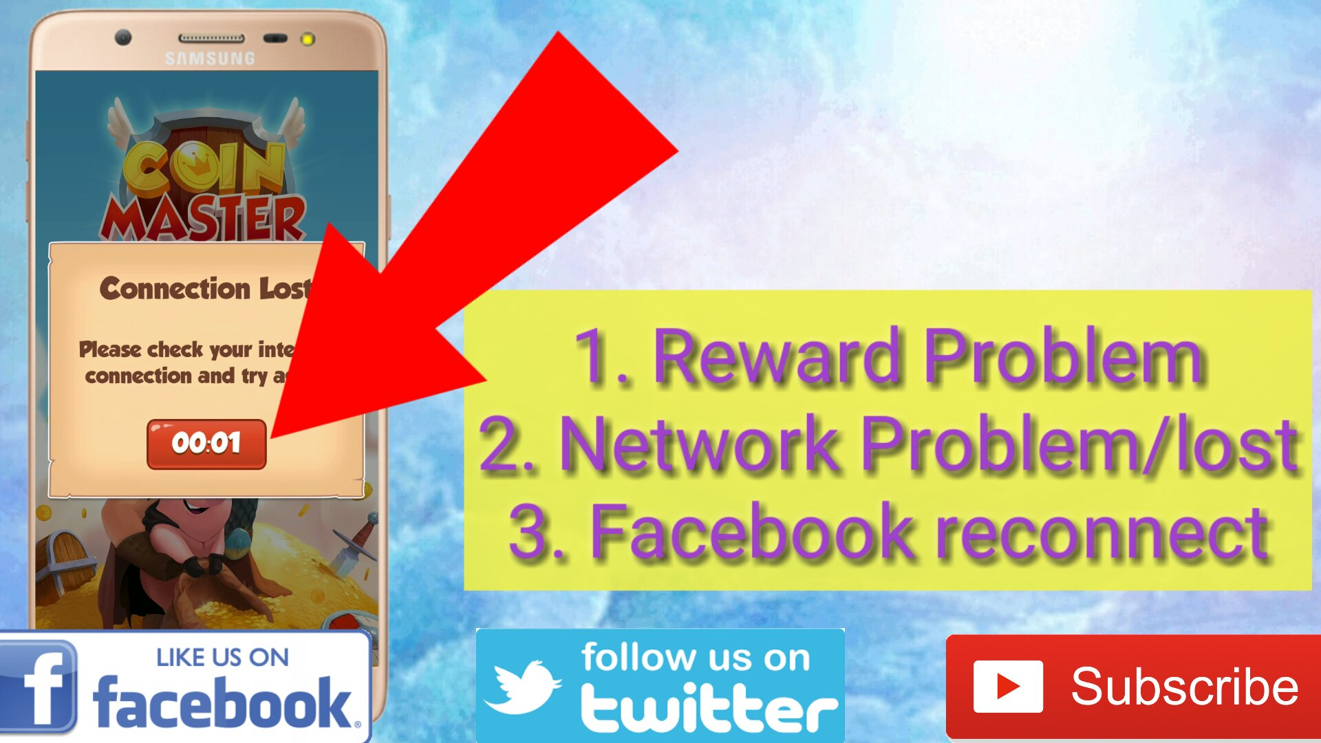 Coin Master Network Problem | Cards | FB Request