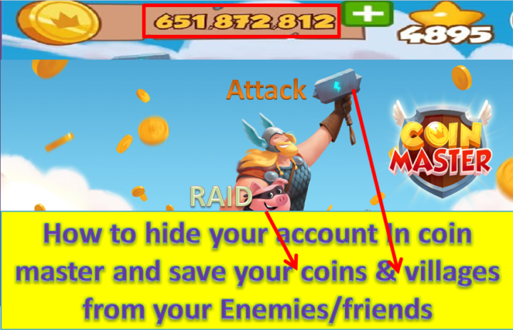 How to hide your coinmster account and save your coins and villages from enemies